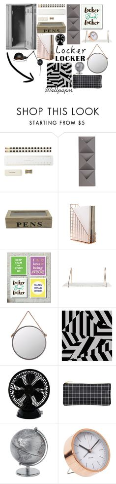 """""""Locker design"""" by bridie-oloughlin ❤ liked on Polyvore featuring interior, interiors, interior design, home, home decor, interior decorating, Kate Spade, Umbra, Foreside and Keystone"""
