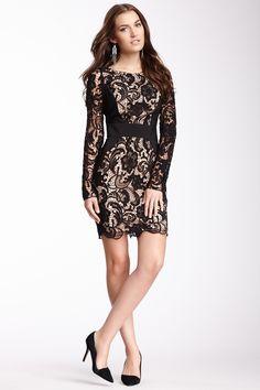 Jessica Simpson Contrast Panel Lace Dress on HauteLook