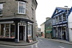 Richard Booth's bookstore, Hay-on-Wye, Powys, Wales  Population: 1,300. Bookstores: 41.