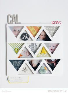 Cal *scrapbook kit only* by April Foster at Studio Calicousing the Block Party scrapbook kit
