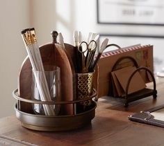 Printer's Home Office Desk Accessories #potterybarn