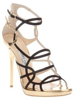 14daae54f21 Jimmy Choo high heel sandal - LOVE the multi strap design Mais Mais
