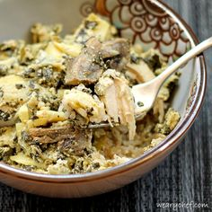 Slow Cooker Chicken with Artichokes and Spinach | The Weary Chef