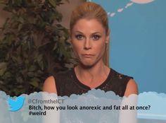 Julie Bowen from Celebrity Mean Tweets From Jimmy Kimmel Live!   E! Online