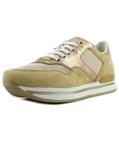 c3514b9406 Tessuto Women Round Toe Synthetic Gold Tennis Shoe'. #hogan #shoes #sneakers