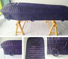Purple bespoke willow pod coffin #coffin #colour #purple