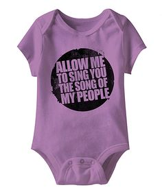 Look at this Lavender 'Song of My People' Bodysuit - Infant on #zulily today!