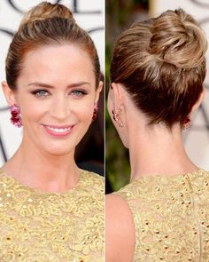 Stylist Secrets to Our Favorite Celebrity Updos - Emily Blunt's High Knot from #InStyle
