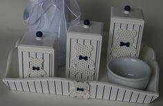 Kit Higiene Urso Sentado Gravata Azul M