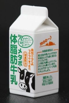 It would be an udder failure not to moove quickly to add this Black and White Cow Carton Japanese Eraser to your collection.