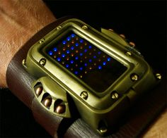 Steampunk LED Watch | DudeIWantThat.com