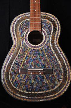 Large guitar - Shining Star Mosaics