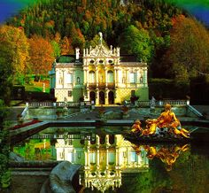 Linderhof Palace - southwest Bavaria - I love King Ludwig's castles! This was a weekend home :)