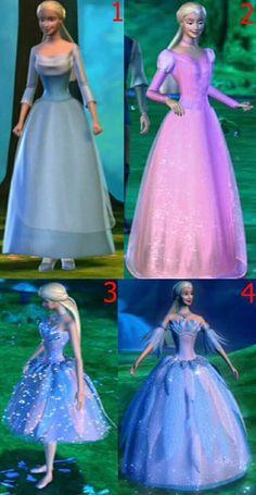 3 and 4 >//< Barbie 2000, Barbie I, Barbie Dress, Barbie Swan Lake, Paper Dolls Clothing, Princess And The Pauper, Barbie Movies, Princesa Disney, Vintage Barbie