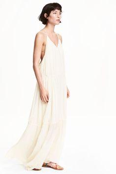 Vestido largo de gasa | H&M