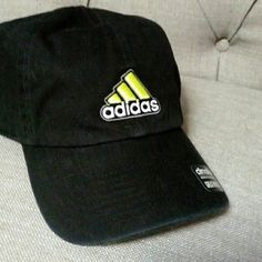 Adidas climalite Hat new This is new and never worn. One size fits mist Adidas Climalite uni-sex hat. It is black with a lime green logo. Adidas Accessories Hats