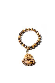 Bracelet œil de tigre,bouddha pendant