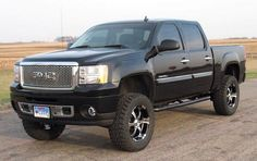 Lifted Black GMC Truck