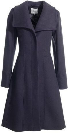 Wide collar coat