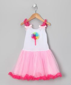 Take a look at this Pink Lollipop Candy Tulle Dress - Toddler & Girls by Princess Expressions on #zulily today!