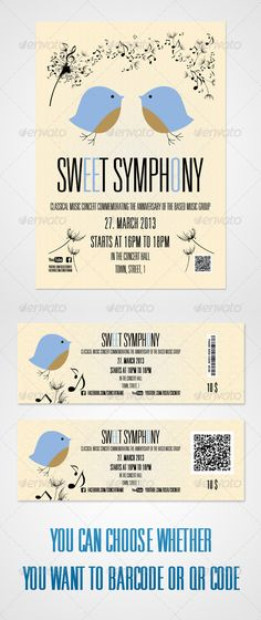 Symphony Poster And Tickets by MMDuo Poster: - International format A3  29.742 cm / 11.69316.537 inches / - Resolution  300 DPI, CMYK - PSD CS4, Layered - Font use