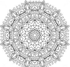 Adults Coloring Book Mandala Stress Relief Patterns Designs Color Relax Shape Coloringbook