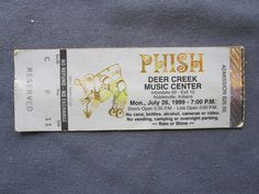 Phish, Deer Creek Music Center, 7/26/1999, 26.50