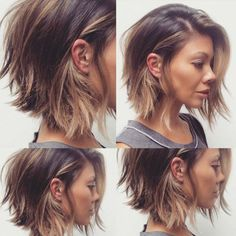 Coupe de cheveux femme beauté Using fingernail gloss is fairly difficult for some women. Edgy Bob Haircuts, Wavy Bob Hairstyles, Cool Haircuts, Shoulder Length Layered Hairstyles, Thick Wavy Haircuts, Short To Medium Haircuts, Above Shoulder Length Hair, Summer Haircuts, Woman Hairstyles