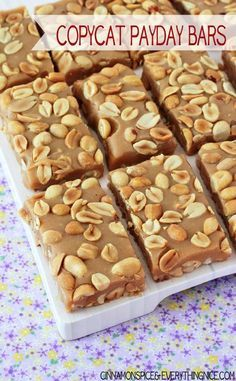 Copycat Payday Candy Bars