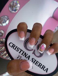 Cute Acrylic Nails, Love Nails, Trendy Nails, Cute Pink, Manicure, Make Up, Nail Art, Tattoos, Sweet