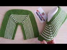 Çok kolay Bayan patik modeli / iki şiş ile yeni patik modelleri /Ç. Knitting Socks, Knitting Stitches, Baby Knitting, Crochet Baby, Knit Crochet, Knitting Videos, Knitting Projects, Crochet Projects, Knitted Slippers