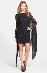MICHAEL Michael Kors Fringe Lace Sheath Dress