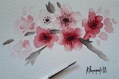 Little postcard, aquarelle  by Anna Baramati.