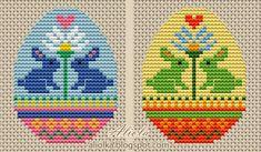 """Милые сердцу штучки: Вышивка крестом: """"Пасхальные яйца"""" (подборка схем)"""