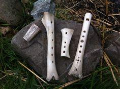 Authentic bone flutes by deviantart user Dewfooter