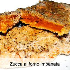 Zucca al forno impanata