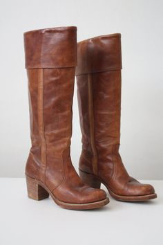 vintage frye boots whiskey leather campus boots by 1919vintage