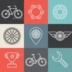 Hipster bicycle logo templates - Stock Photo - Images