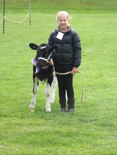 me with my calf and I got a champion rearing