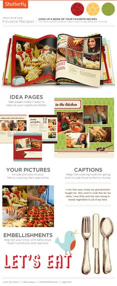 Gather up those family recipes and create a photo book that you can share for many generations to come. | Shutterfly