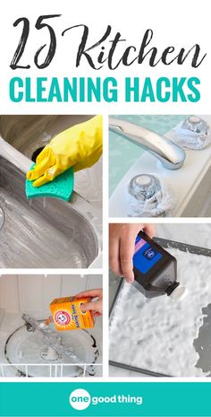 I'm sharing 21 of my very best cleaning hacks for just about everything in your kitchen, including floors, cabinets, appliances, and more! These tips are sure to save you a LOT of time and effort on your kitchen cleaning projects.