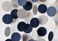 Decoração branca e azul navy - cortina