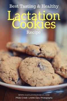 Absolutely the best tasting & healthy lactation cookies recipe out there! Boost your milk supply while curbing your sweets craving!