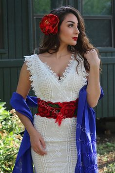 Wedding Sash Belt, Wedding Belts, Bridal Sash, Lace Wedding, Floral Wedding, Wedding Decor, Wedding Ideas, Mexican Theme Dresses, Mexican Outfit