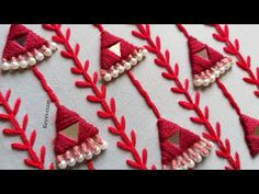 All over hand embroidery design tutorial by Keya's Craze – Handstickerei Embroidery On Kurtis, Basic Embroidery Stitches, Hand Embroidery Videos, Hand Embroidery Tutorial, Embroidery Flowers Pattern, Flower Embroidery Designs, Creative Embroidery, Bead Embroidery Jewelry, Beaded Embroidery
