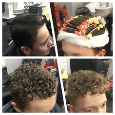 Yes the perm is back but it's the teenage boys who are picking up this trend. From straight to curly 😀 hair done by Sarah today. Short Perm, Curly Perm, Curly Hair Cuts, Short Hair Cuts, Curly Hair Styles, Perm Hair Men, Mens Perm, Permed Hairstyles, Boy Hairstyles