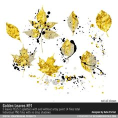 Golden Leaves No. 01 at Designer Digitals