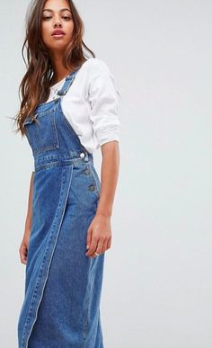 4c77a166109  51 (20% OFF) - ASOS DESIGN denim midi overall dress