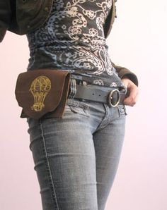 Leather Hip Pouch- would be good for the motorcycle