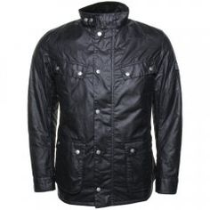 Barbour International Mens Navy Duke Waxed Jacket